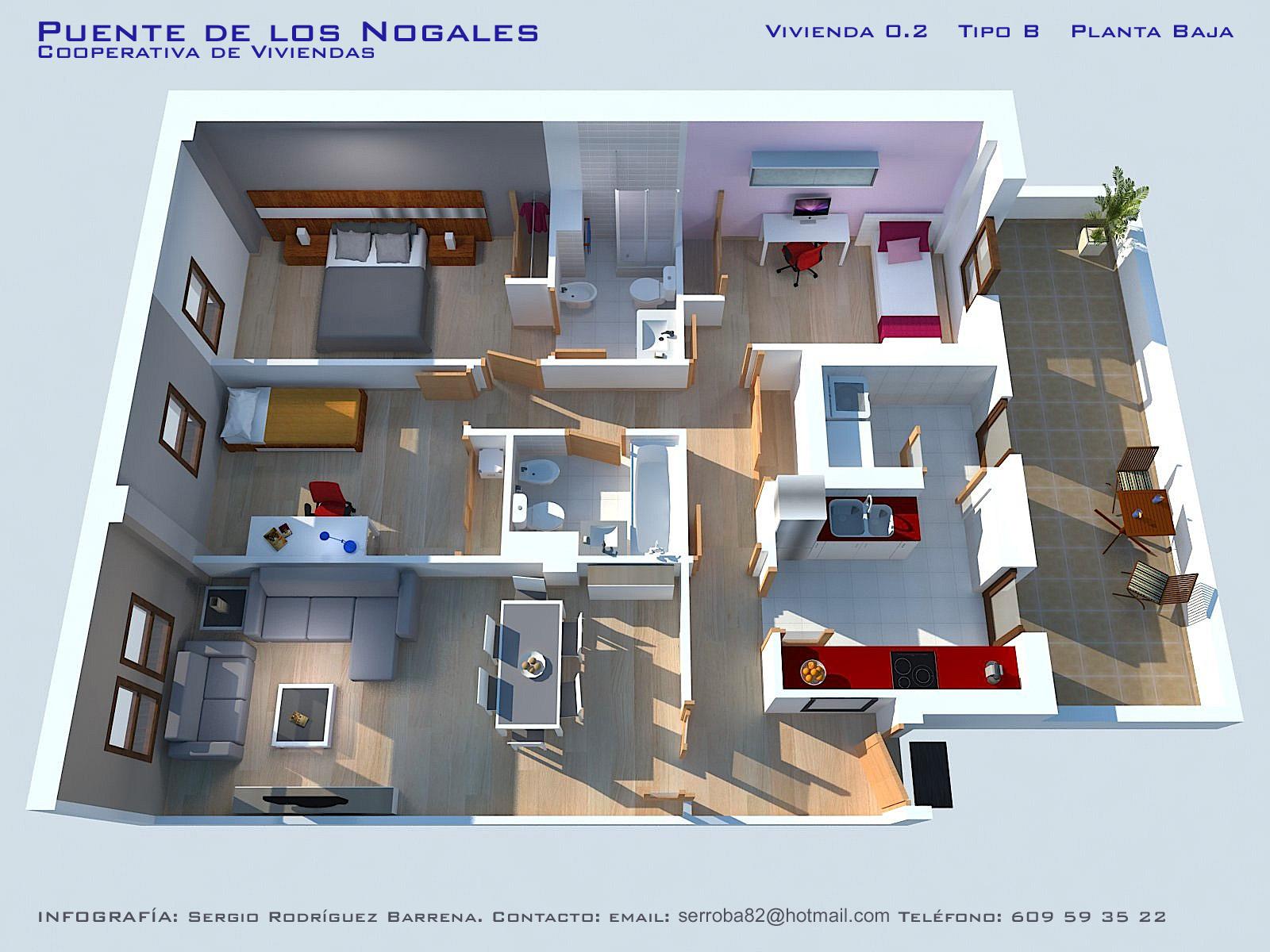 Lenguamiravalle informatica for Programa para planos de viviendas