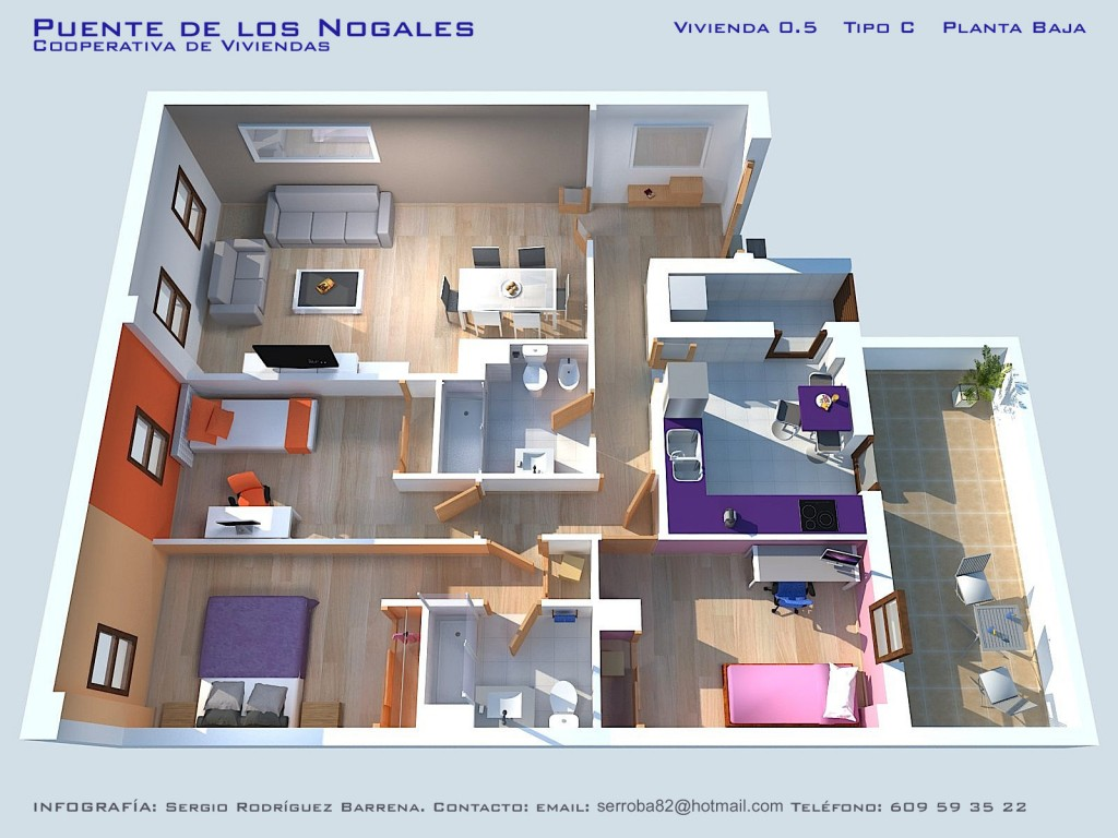 Iv viviendas planos calidades y precios asemcor for Plantas de viviendas