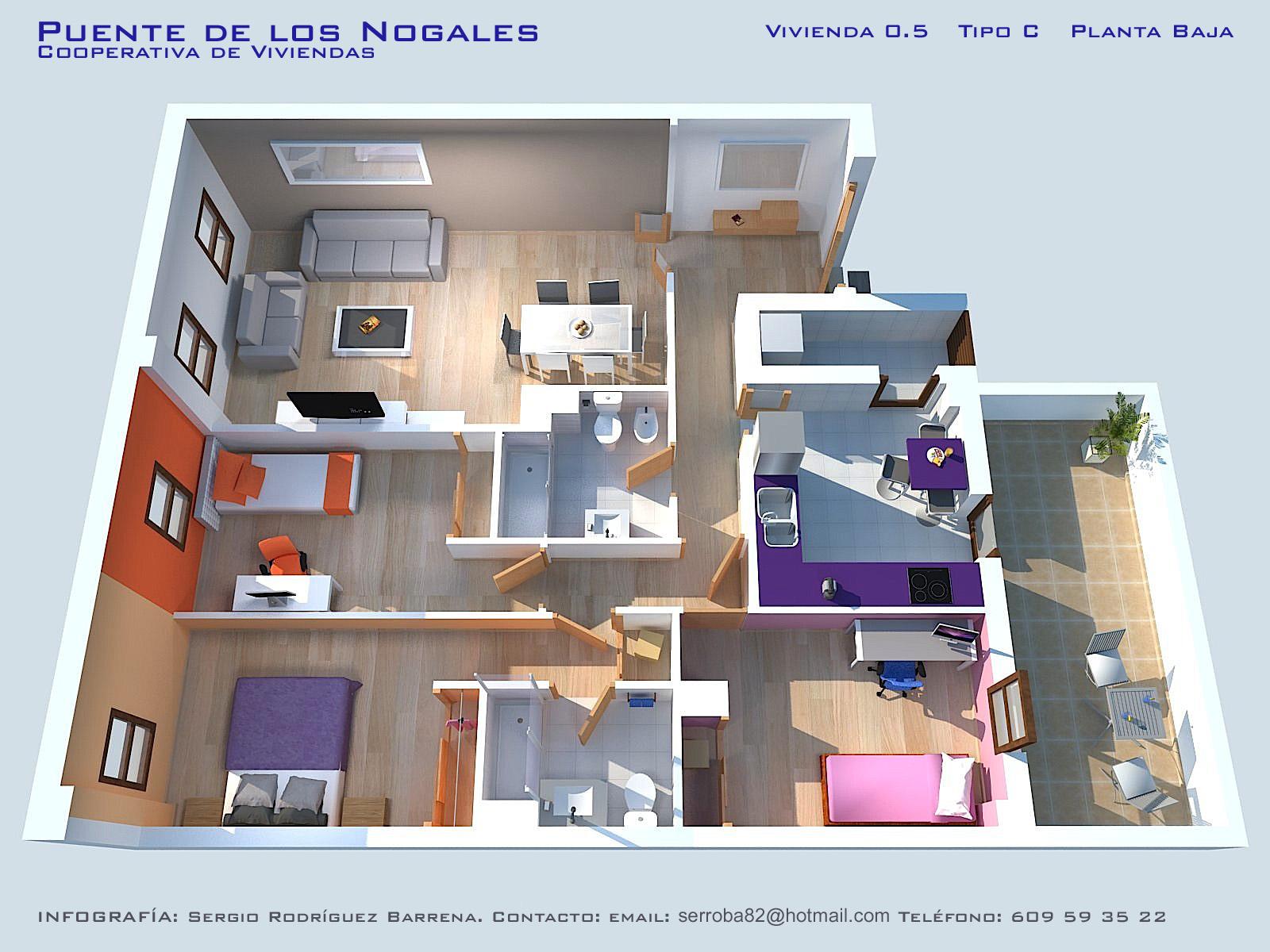Iv viviendas planos calidades y precios asemcor for Programa para planos de viviendas