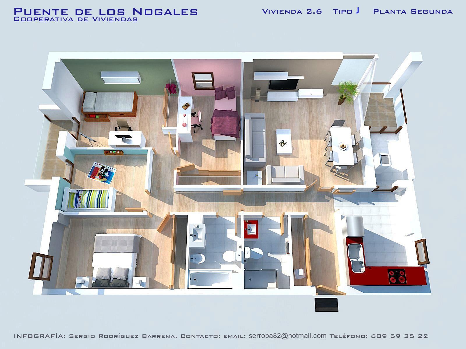 Iv viviendas planos calidades y precios asemcor for Planos de casas para construir de una planta