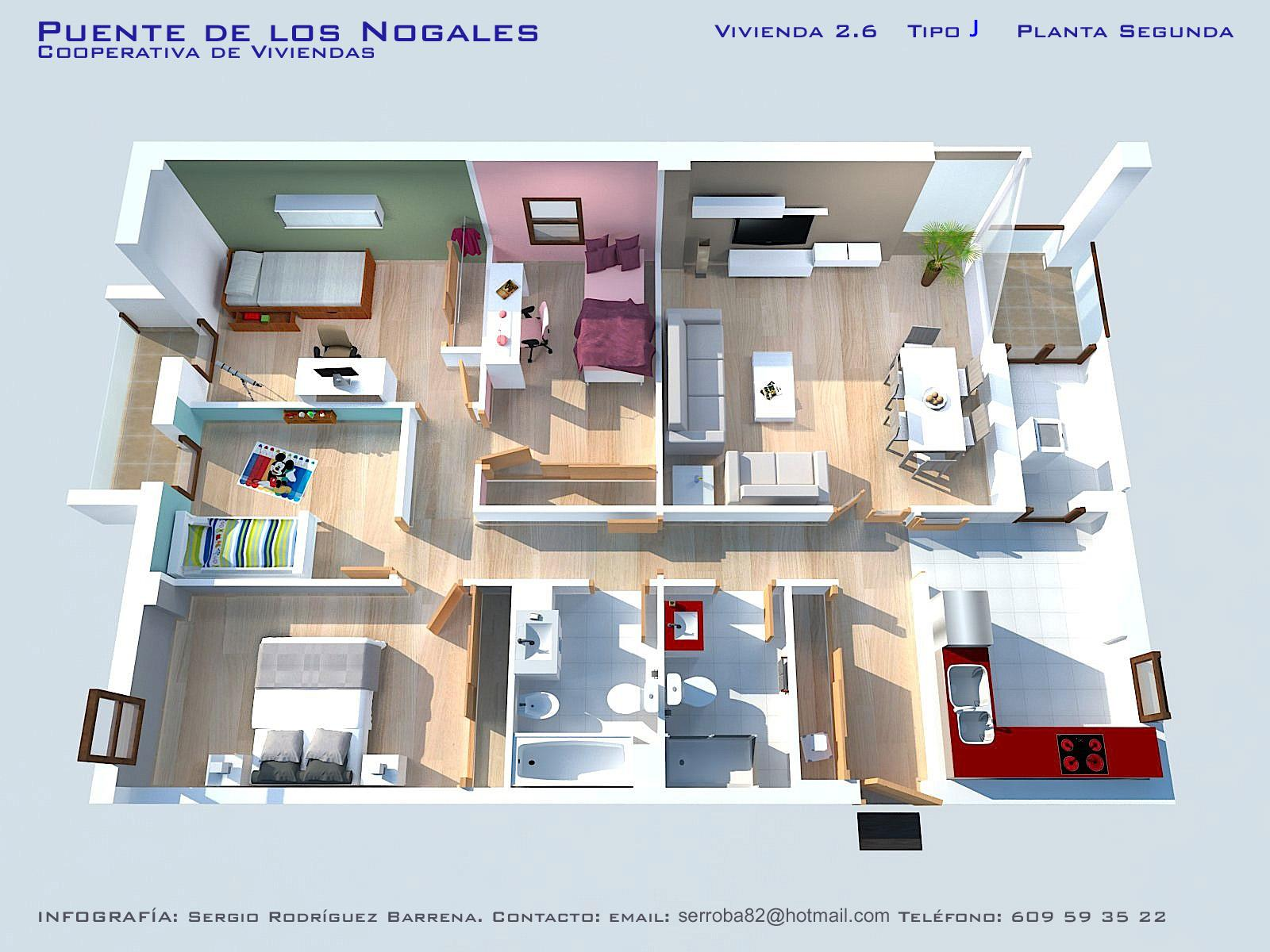Iv viviendas planos calidades y precios asemcor for Planos de viviendas de un piso